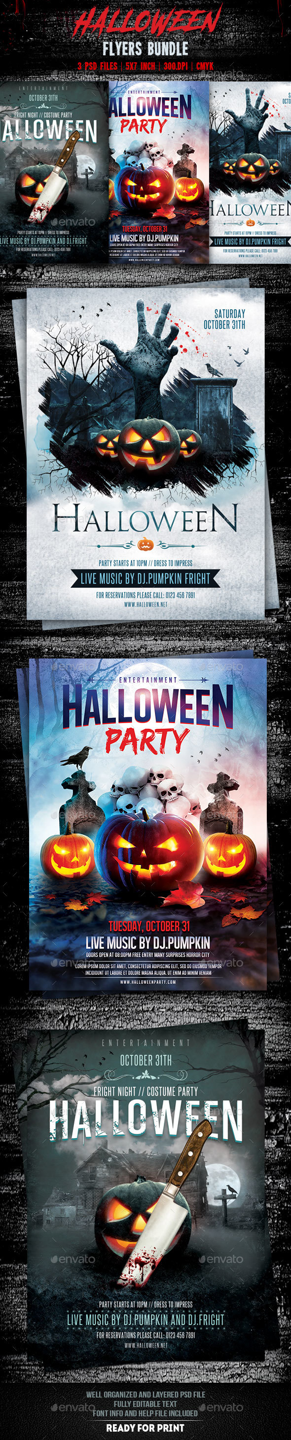 Halloween Flyers Bundle - Events Flyers
