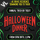 Halloween Dinner Party Poster / Flyer V01 - GraphicRiver Item for Sale