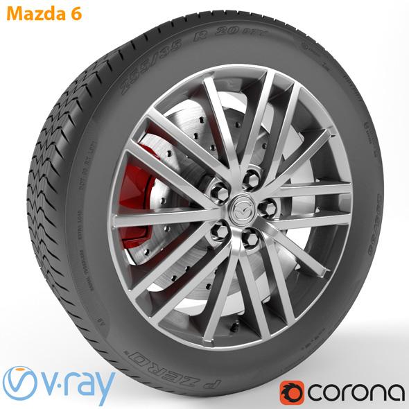 Mazda 6 Wheel - 3DOcean Item for Sale