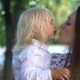 Happy Child Kissing Mother - VideoHive Item for Sale