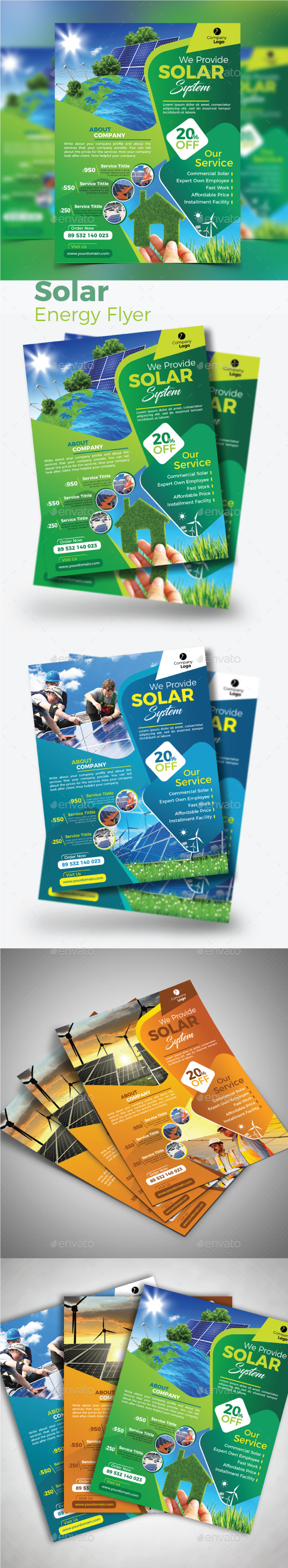 GraphicRiver Solar Energy Flyer 20780004