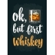 Glass of Whiskey Vintage Vector Engraving