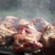 Barbecue Skewers with Meat Are Cooked on the Grill - VideoHive Item for Sale