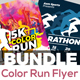 Color Run & Marathon Fest Flyers Bundle