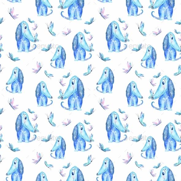 Star Dog Pattern - Patterns Backgrounds