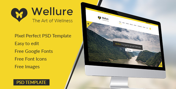 ThemeForest Wellure The Art of Wellness 20632875