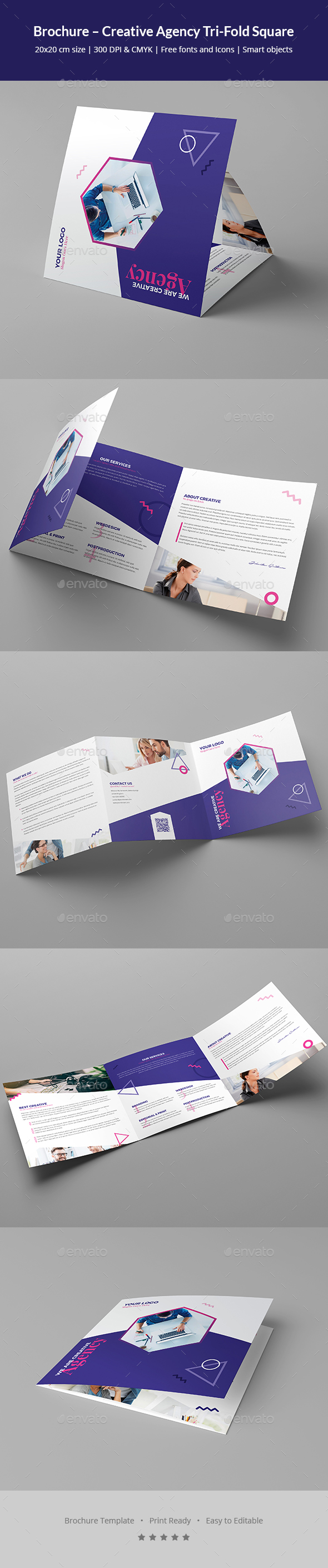 Brochure – Creative Agency Tri-Fold Square