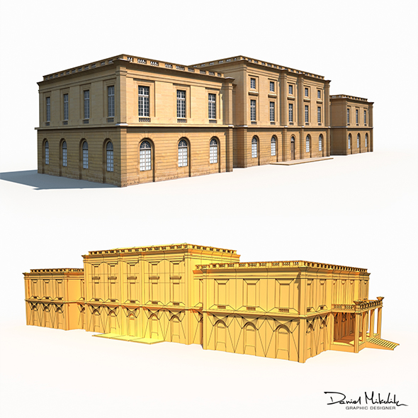 Public Building 167 Low Poly - 3DOcean Item for Sale