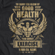 Fitness T-shirt design with bodybuilder - GraphicRiver Item for Sale