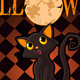 Halloween Cat on Pumpkin - GraphicRiver Item for Sale