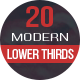 20 Lower Thirds