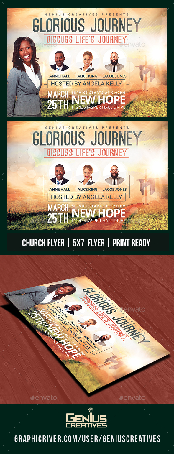 GraphicRiver Glorious Journey Church Flyer Template 20782117