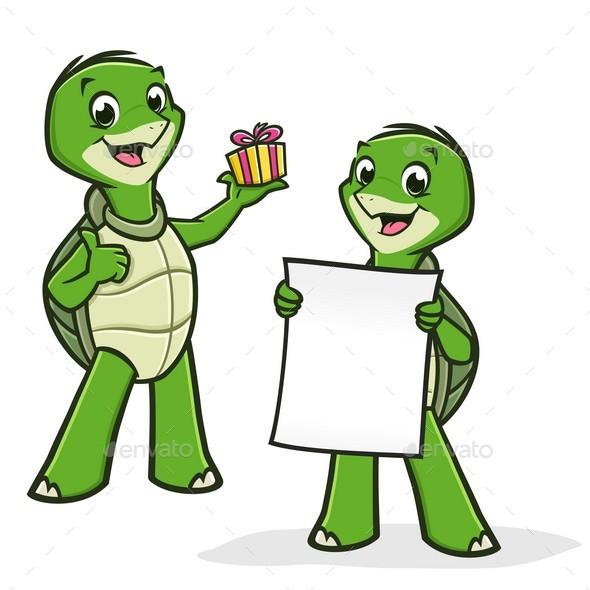 Cartoon Turtles - Animals Characters