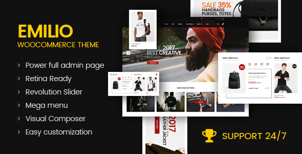 Emilio - Multipurpose Premium Responsive WordPress Theme - WooCommerce eCommerce