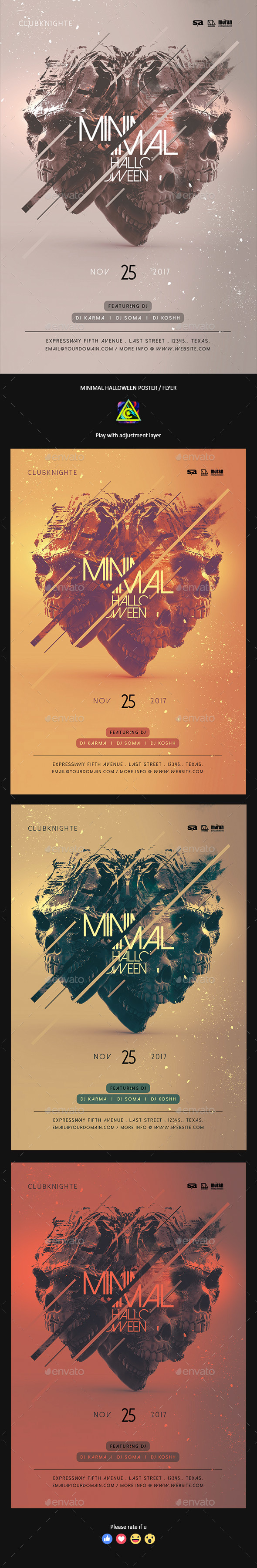 Minimal Halloween Poster / Flyer - Clubs & Parties Events