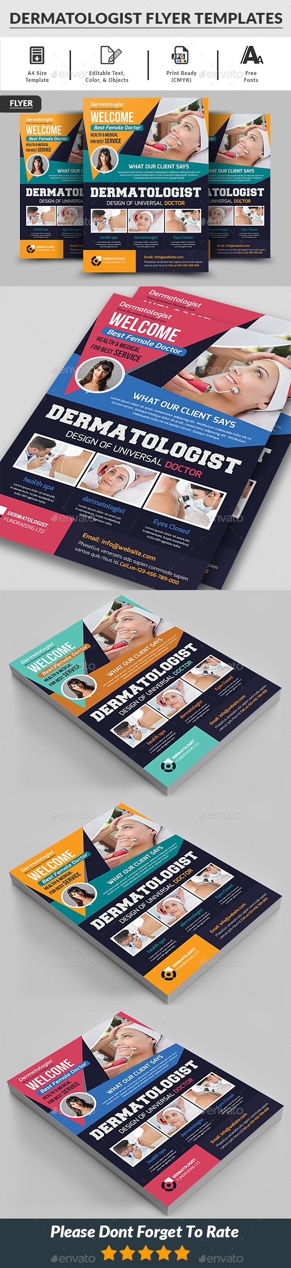 Dermatologist Flyer Templates - Corporate Flyers