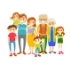 Extended Caucasian Smiling Family - GraphicRiver Item for Sale