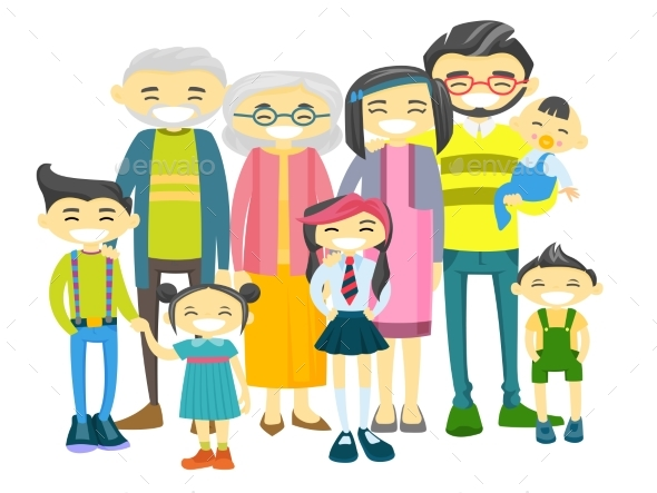 GraphicRiver Extended Asian Family with Many Children 20782915