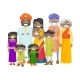 Extended Indian Family with Cheerful Smile - GraphicRiver Item for Sale