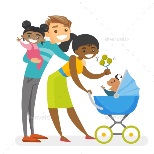 Diverse Multiracial Family - People Characters