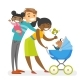 Diverse Multiracial Family - GraphicRiver Item for Sale