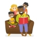 Father Reading a Book to Children - GraphicRiver Item for Sale