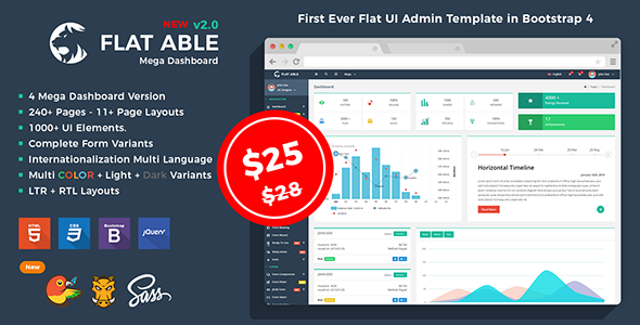Flat Able - Bootstrap 4 Flat UI Admin Template v2.0