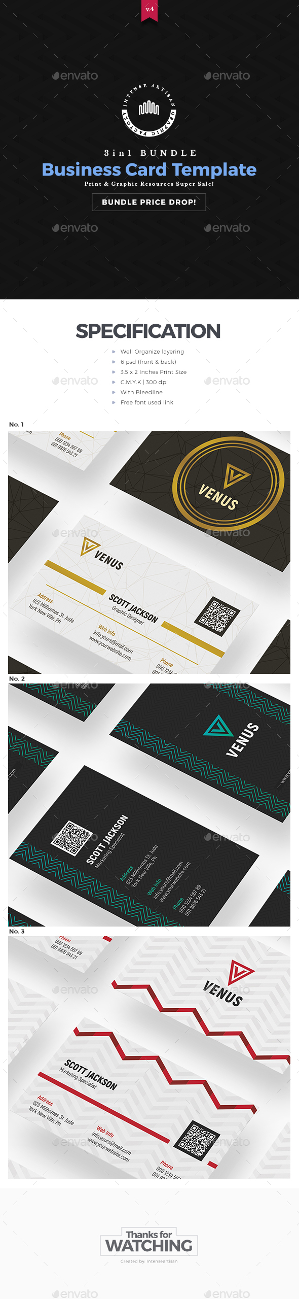 GraphicRiver Business Card 3in1 Bundle 20783145