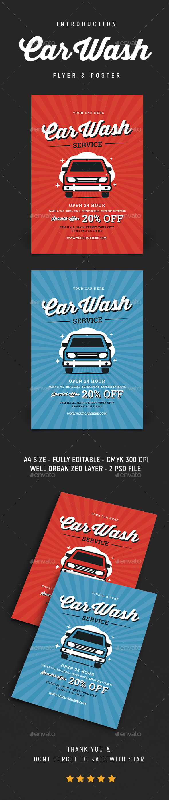 GraphicRiver Vintage Car Wash Flyer 20783172