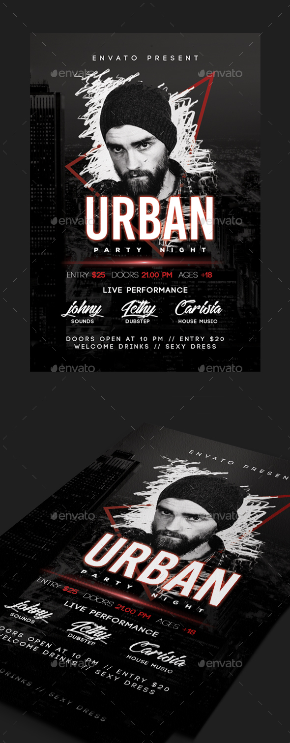 GraphicRiver Urban Dj Guest Flyer 20783226