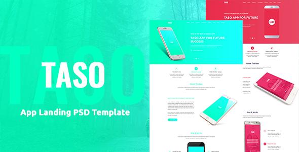 Taso - App Landing PSD Template - PSD Templates