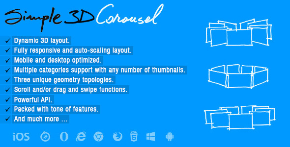 Simple 3D Carousel - CodeCanyon Item for Sale