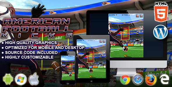 American Football Kicks - HTML5 Sport Game - CodeCanyon Item for Sale
