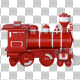 Red Plastic Toy Train