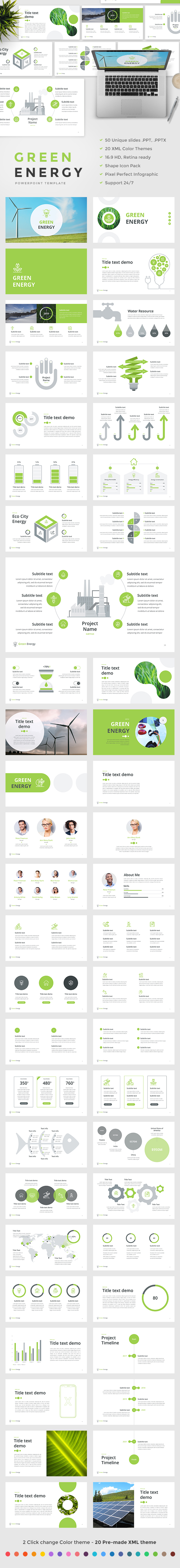 GraphicRiver Green Energy PowerPoint Template 20784103