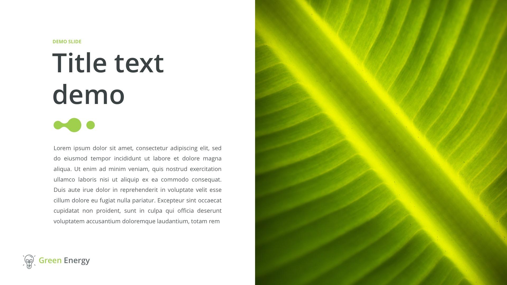 powerpoint template green