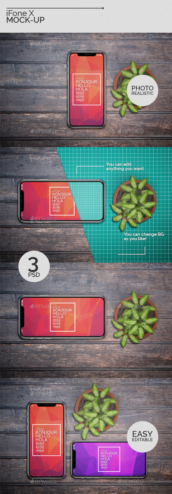 iFone X Mock-Ups - Mobile Displays
