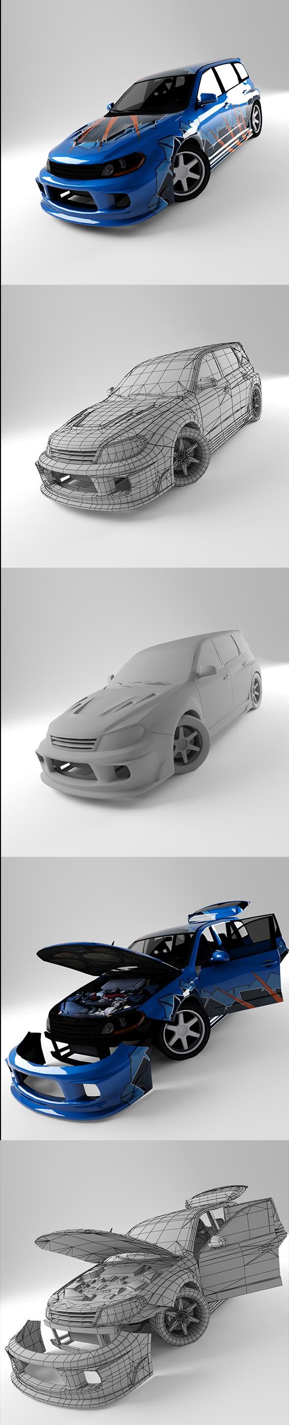 3DOcean Subaru STI 20784365