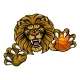 Lion Basketball Ball Sports Mascot - GraphicRiver Item for Sale