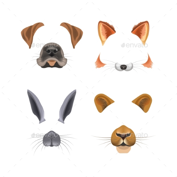 GraphicRiver Animal Face Video Chat or Selfie Photo Filter 20784469