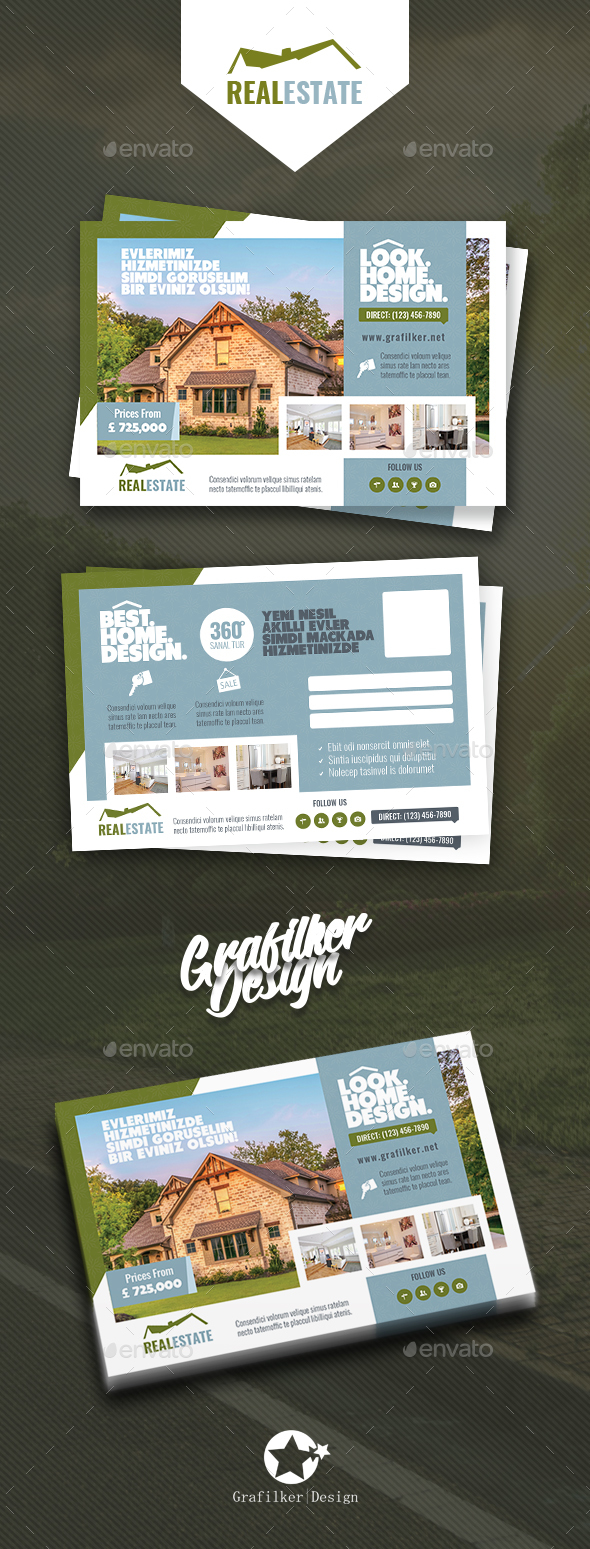 GraphicRiver Real Estate Postcard Templates 20784536