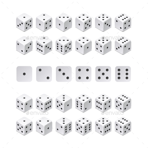 Isometric 3d Dice Combination - Miscellaneous Vectors