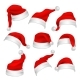 Santa Claus Red Hats Photo Booth Props