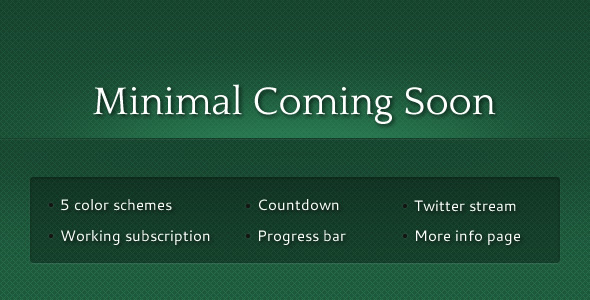Free Download Minimal Coming Soon Nulled Latest Version
