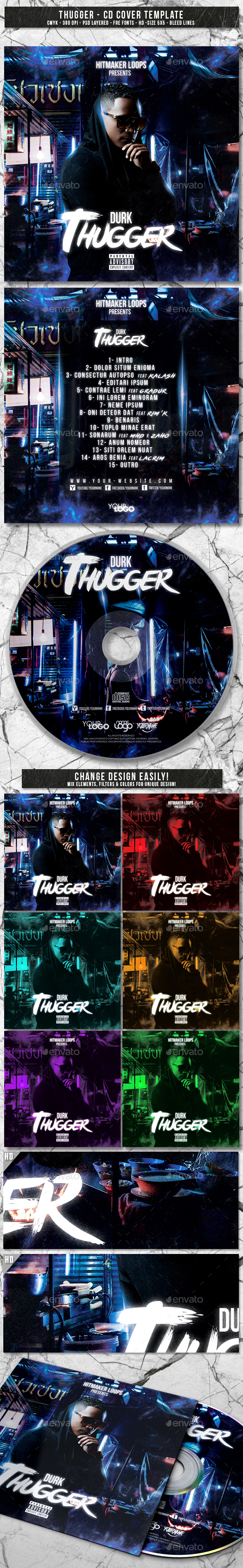 GraphicRiver Thugger Album CD Mixtape Cover Template 20785258