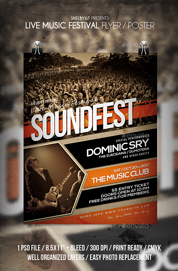 Live Music Festival Flyer / Poster - Events Flyers