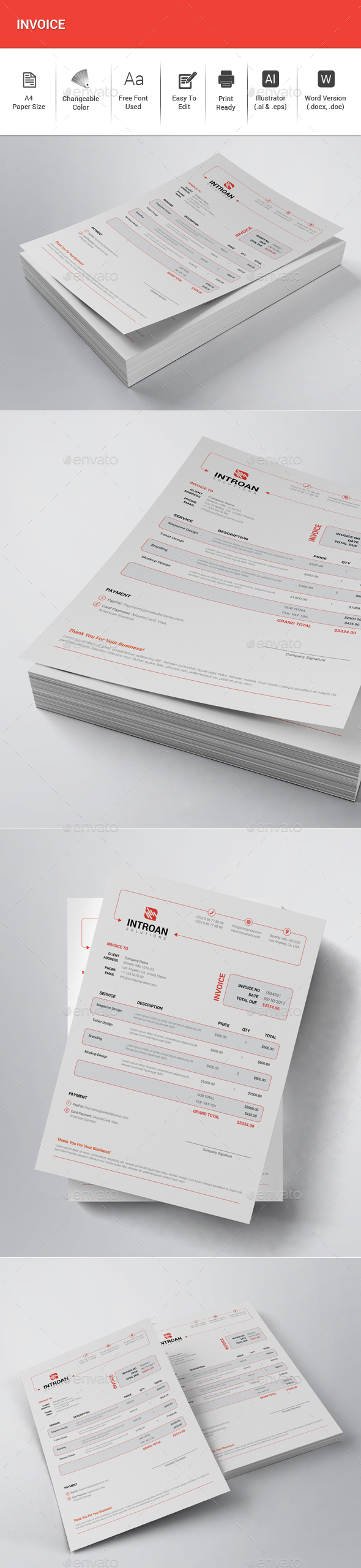 GraphicRiver Invoice 20785377