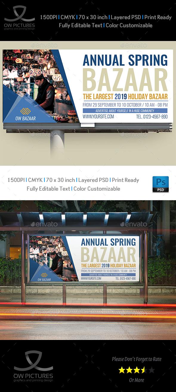 GraphicRiver Bazaar Billboard Template 20785361
