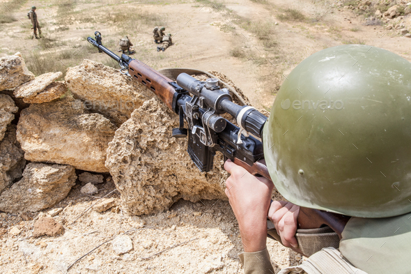 Soviet paratrooper in Afghanistan - Stock Photo - Images