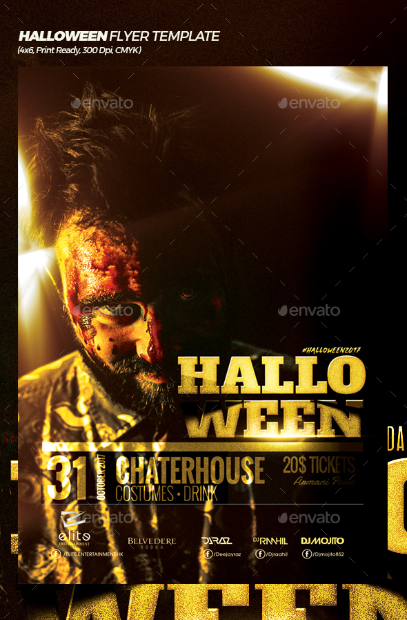 Thriller Halloween Flyer Template - Events Flyers